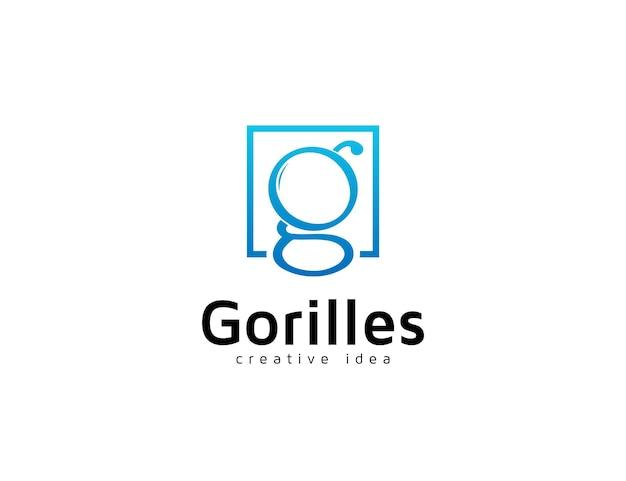 Logo de la lettre g moderne avec un design carré