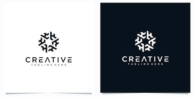 Le logo de la lettre h conçoit un résumé. inspirations du logo créatif lettre hf.