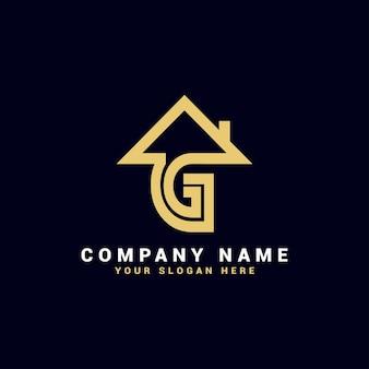 Logo de lettre de l'immobilier g, logo de l'appartement g, logo de la maison g