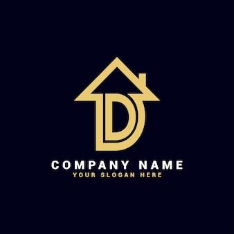 Logo de lettre d immobilier, logo d'appartement d, logo de maison d