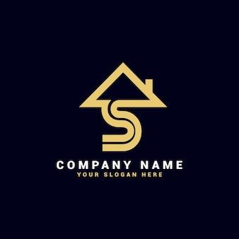Logo de lettre de l'immobilier s, logo de l'appartement s, logo de la maison s