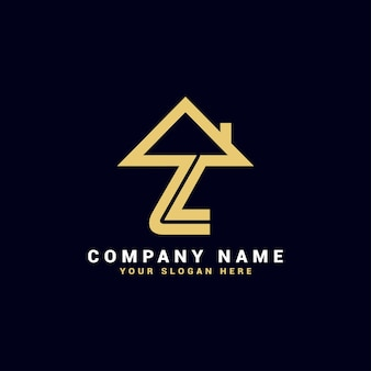 Logo de lettre de l'immobilier z, logo de l'appartement z, logo de la maison z