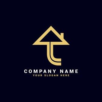 L logo de lettre immobilière, logo d'appartement l, logo de maison l