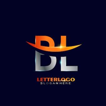 Logo de la lettre initiale bl avec design swoosh pour le logo de l'entreprise et de l'entreprise.