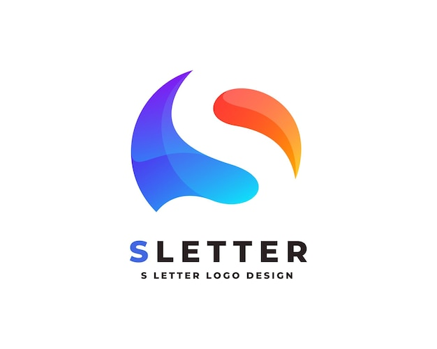 Logo de lettre initiale dégradé coloré avec modèle vectoriel de conception de carte de visite premium
