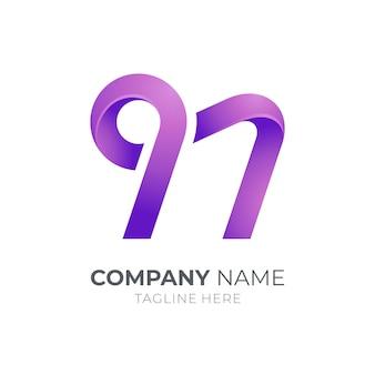 Logo de lettre initiale simple n