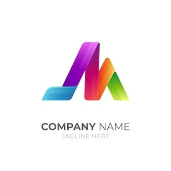 Logo de lettre isolé sur blanc