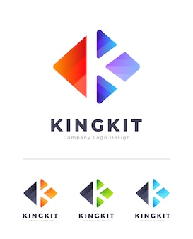 Logo de lettre k coloré