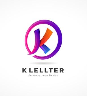 Logo de lettre k moderne