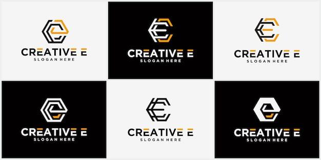 Logo de la lettre c logo hexagonal, icône, ligne de symbole infini lettre initiale c modèle de conception de logo