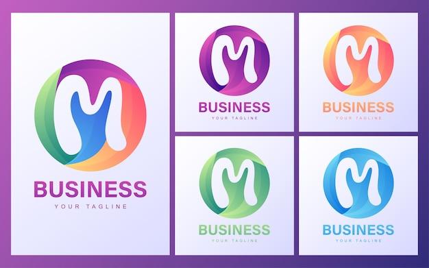 Logo de lettre m coloré avec un concept moderne