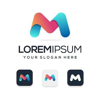 Logo de lettre m coloré