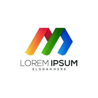 Logo de la lettre m coloré