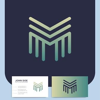 Logo de lettre m médias vectoriels dans un style de ligne moderne