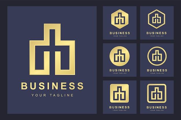 Logo de lettre minimaliste avec plusieurs versions