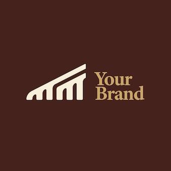 Logo de la lettre mm pour les entreprises d'architecture. logo abstrait mm