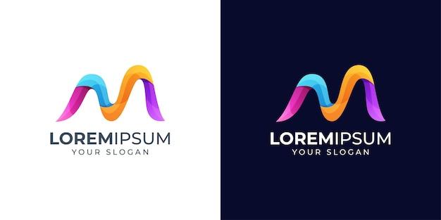 Logo de lettre n coloré