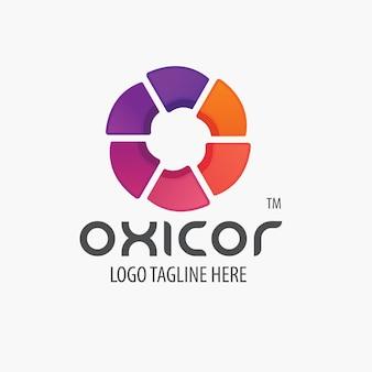 Logo de lettre o abstrait coloré