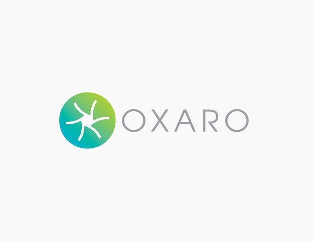 Logo de lettre o abstrait propre d'entreprise minimal