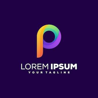 Logo de lettre p dégradé