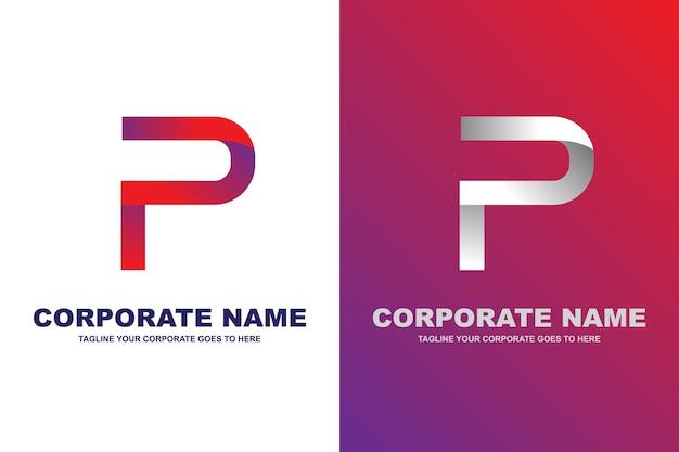 Logo de la lettre p moderne