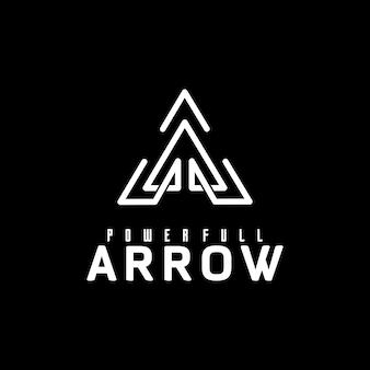 Logo lettre a ou pointe de flèche minimaliste