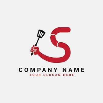 Logo de lettre s, logo de lettre de nourriture s
