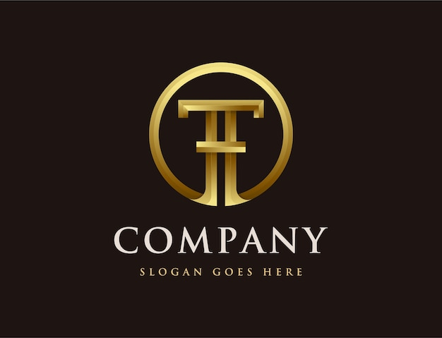 Logo de lettre t élégance