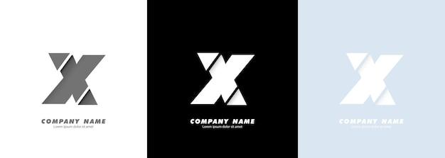 Logo de la lettre x de l'alphabet d'art abstrait. conception cassée.