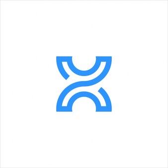 Logo de lettre x moderne