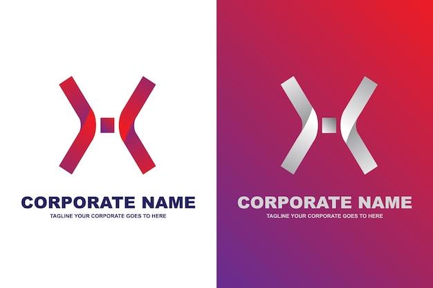 Logo de la lettre x moderne