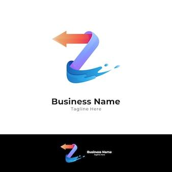 Logo de la lettre z avec flèche