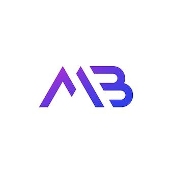 Logo de lettres mb, monogramme sur blanc