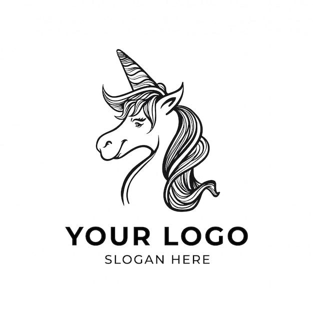 Logo licorne handrawn