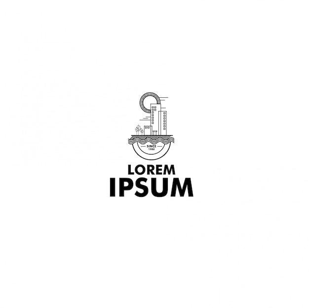 Logo ligne art aventure