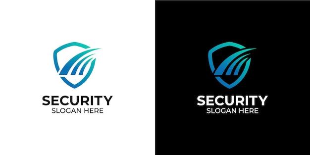 Logo de ligne de bouclier élégant et minimaliste pour les entreprises et les agences