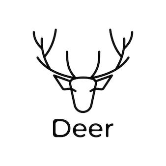Logo de ligne de cerf minimaliste