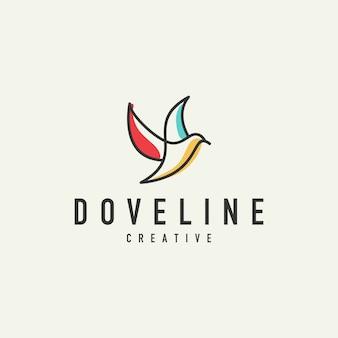 Logo de la ligne moderne colombe