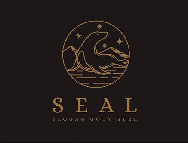 Logo linéaire du sceau