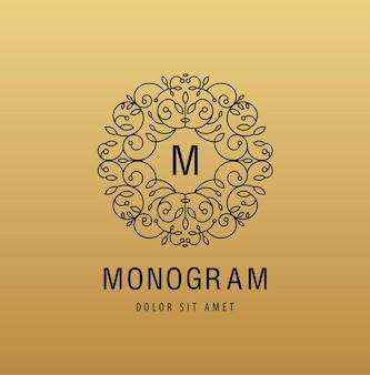 Logo linéaire de luxe monogramme
