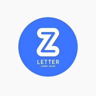 Logo linéaire moderne et signez la lettre z