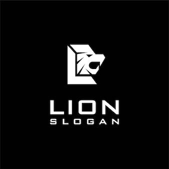 Logo de lion avec le concept de la lettre l