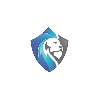 Logo lion lion head et shield