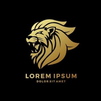 Logo de lion rugissant