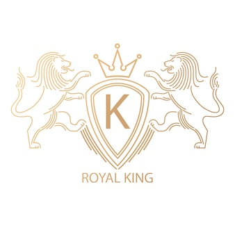 Logo avec des lions.
