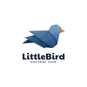 Logo little bird style dégradé low poly