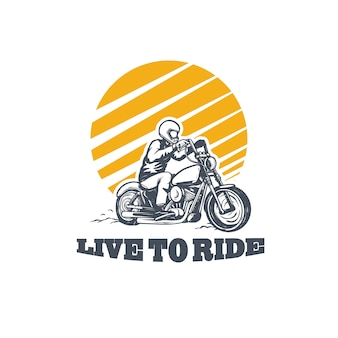 Logo live to ride