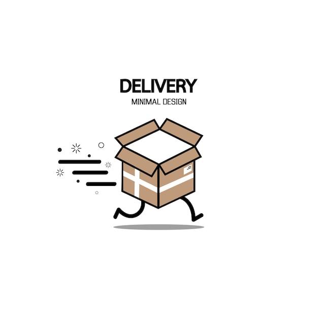 Logo de livraison rapide.