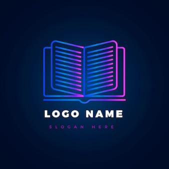 Logo de livre dégradé