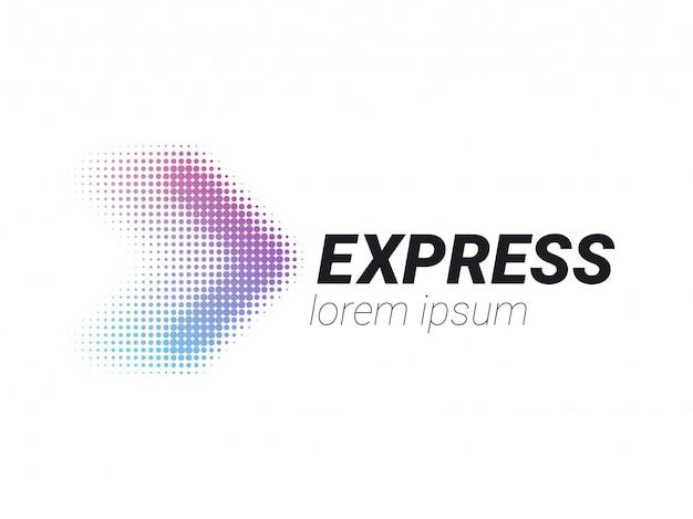 Logo logistique flèche livraison express